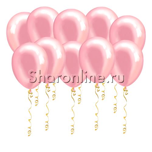 Фото №1: Розовые шары металлик