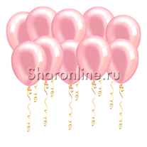 Розовые шары металлик