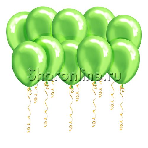 Фото №1: Салатовые шары металлик