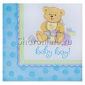 """Фото №1: Салфетки """"Baby boy"""" медвежонок мальчик 16 шт"""