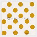 """Фото №1: Салфетки """"Горошек золото"""" 33 см 6 шт"""
