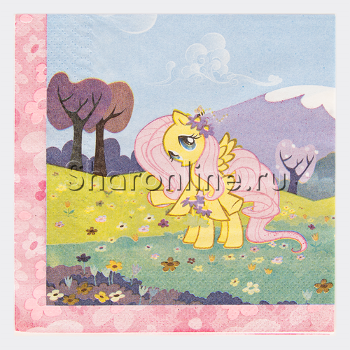 """Фото №2: Салфетки """"Моя маленькая пони"""" 20 шт"""