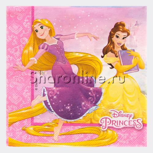 """Фото №1: Салфетки """"Принцессы и животные"""" 12шт"""
