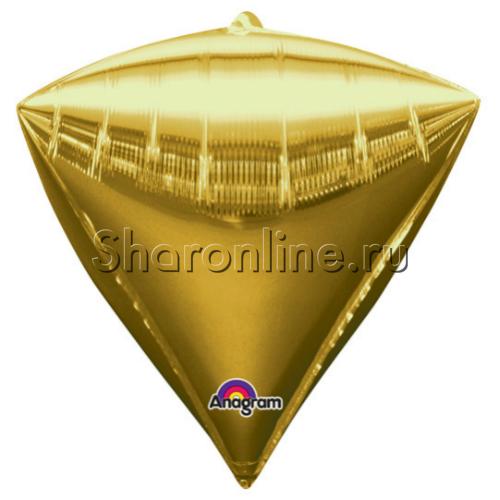 Фото №1: Шар 3D Алмаз Золотой 44 см