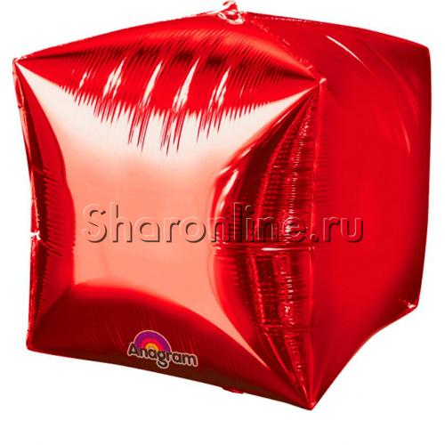 Фото №1: Шар 3D Куб Красный 38 см