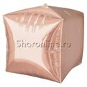 Фото №1: Шар 3D Куб Розовое Золото 38 см