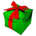 Фото №1: Шар 3D Куб Зеленый с бантиком 38 см