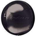 Фото №1: Шар 3D Сфера черная 41 см