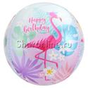 """Фото №1: Шар 3D Сфера """"Фламинго"""" 41 см"""