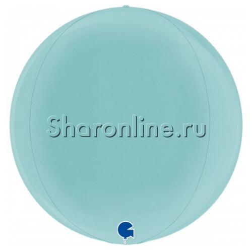 Фото №1: Шар 3D Сфера голубая 41 см