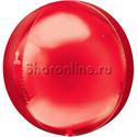 Фото №1: Шар 3D Сфера красная 41 см