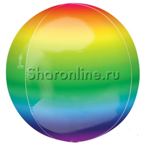"""Фото №1: Шар 3D Сфера """"Радуга"""" 41 см"""