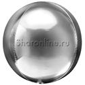 Фото №1: Шар 3D Сфера Серебряная 41 см