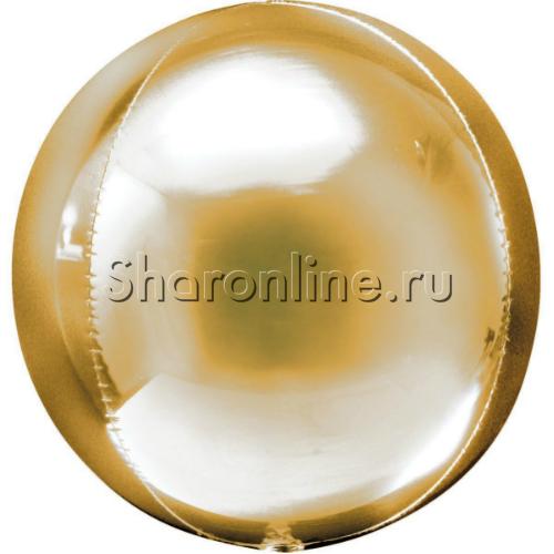 Фото №1: Шар 3D Сфера золотая 41 см
