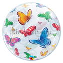 "Фото №1: Шар Bubble ""Бабочки"" 55 см"