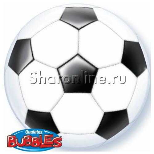 """Фото №1: Шар Bubble """"Футбольный мяч"""" 55 см"""