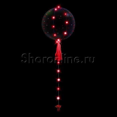 Фото №1: Шар Bubble на красной светодиодной ленте