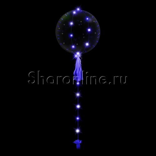 Фото №1: Шар Bubble на голубой светодиодной ленте