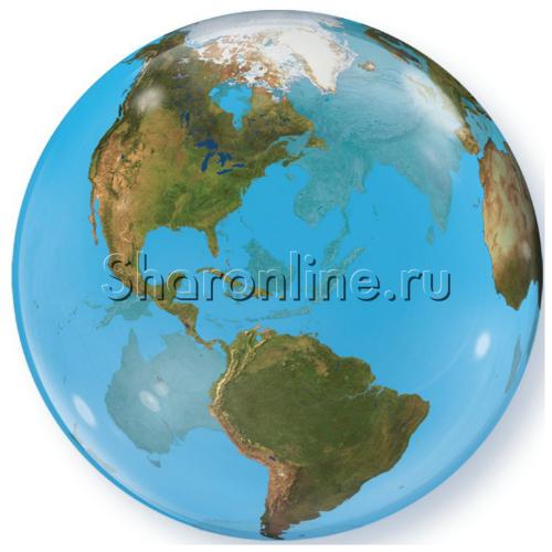 """Фото №1: Шар Bubble """"Планета Земля"""" 55 см"""