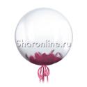 Фото №1: Шар Bubble с бордовыми перьями