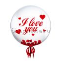 """Фото №2: Шар Bubble с конфетти  и надписью """"I love you"""""""