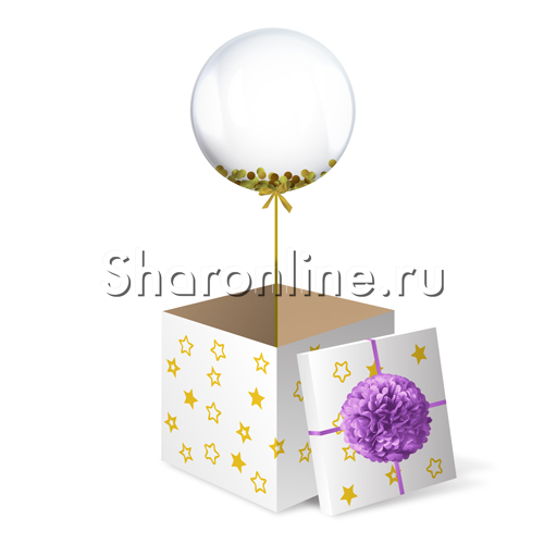 Фото №2: Шар Bubble с конфетти в коробке