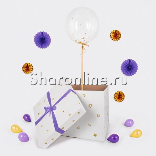 Фото №3: Шар Bubble с конфетти в коробке
