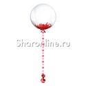 Фото №1: Шар Bubble с красной подвеской и перьями