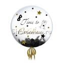 "Фото №2: Шар Bubble с перьями и надписью ""Time to Celebrate"""
