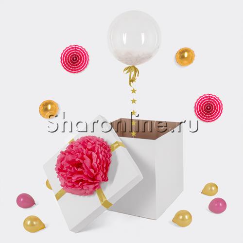 Фото №1: Шар Bubble с перьями в коробке