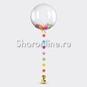 """Фото №1: Шар Bubble с подвеской и перьями """"Нежное ассорти"""""""