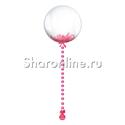 Фото №1: Шар Bubble с розовой подвеской и перьями