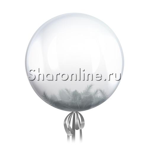 Фото №1: Шар Bubble с серыми перьями