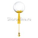 Фото №1: Шар Bubble с желтой кисточкой и перьями