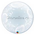 "Фото №1: Шар Bubble ""Шары и звезды"" 60 см"