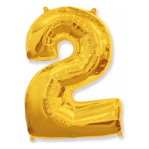 Шар Цифра 2 Золото