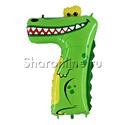 """Фото №1: Шар """"Цифра 7"""" Крокодил 102 см"""