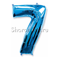 """Шар """"Цифра 7"""" Синяя 99 см"""