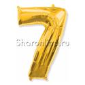 """Фото №1: Шар """"Цифра 7"""" Золото 99см"""