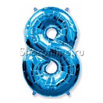 """Шар """"Цифра 8"""" Синяя 99 см"""