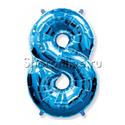 """Фото №1: Шар """"Цифра 8"""" Синяя 99 см"""