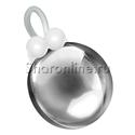 """Фото №1: Шар """"Ёлочная игрушка"""" серебряный 41 см"""