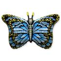 """Фото №1: Шар Фигура """"Бабочка"""" синяя 97 см"""