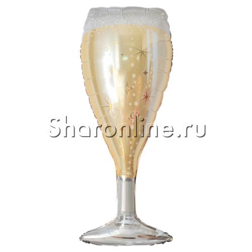"Фото №1: Шар Фигура ""Бокал шампанского"" 94 см"