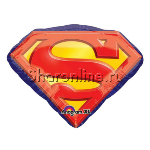 "Фото №1: Шар Фигура ""Эмблема Супермена"" 66 см"
