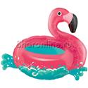 """Фото №1: Шар Фигура """"Фламинго на воде"""" 76 см"""