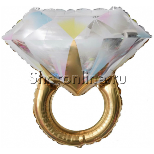"""Фото №1: Шар Фигура """"Кольцо с бриллиантом"""" золотое 69 см"""