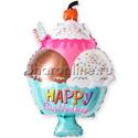 """Фото №1: Шар Фигура """"Мороженое с вишенкой"""" 71 см"""