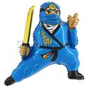 """Фото №1: Шар Фигура """"Лего Ниндзяго"""" Синий 81 см"""