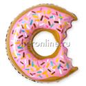 """Фото №1: Шар Фигура """"Пончик"""" надкусанный 66 см"""
